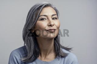 Asian Mature Female Studio Portrait
