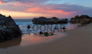 Seaside tranquility at sunrise