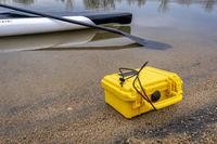 stand up paddleboard and waterproof case