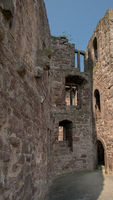 Ruin wall of castle Hanstein