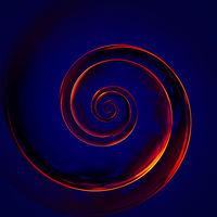 fire spiral background illustration