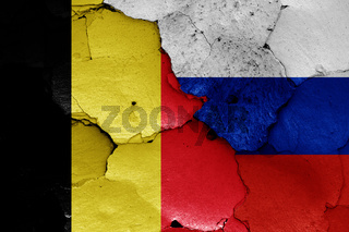 flags of Belgium and Russia