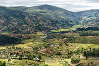 Landschaft und die nördlichen Vororte von Antananarivo, Provinz Antananarivo Avaradrano, Madagaskar
