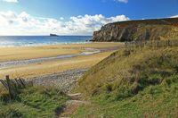Strand in der Bretagne, Plage de Pen Hat, Frankreich