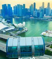 Singapore Flyer, Downtown Core skyline