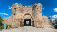 Entrance gates to the castle Samuil in Ohrid