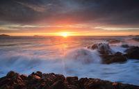 Sunrise skies Port Stephens