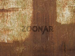 Rusty old coal wagon, close up