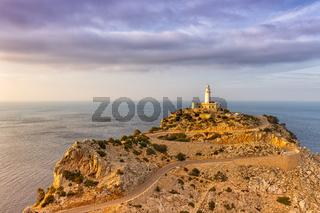 Cap Formentor Mallorca Landschaft Natur Leuchtturm Meer Textfreiraum Copyspace Reise Reisen Spanien