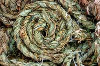 Braided dried sorrel leaves