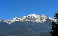 Das Mont-Blanc-Massiv, Hochsavoyen, Frankreich