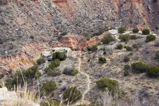 Walking path in Palo Duro canyon , Texas ,USA