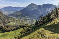 Ausblick auf das Buochserhorn von der Bergstation Luftseilbahn Dallenwil - Wirzweli, Nidwalden, Schweiz, Europa
