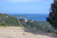 Beautiful landscape macchia vegetation archipelago Sardinia