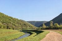 Landschaft im Rasatal in Istrien