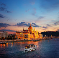 Hungarian Parliament on Danube
