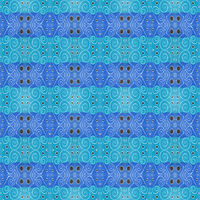 Hand Draw Ornate Colored Seamless Pattern Design
