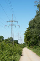 overhead high-voltage power line