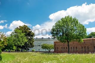 View towards Klenze Park in Ingolstadt