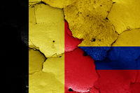 flags of Belgium and Colombia