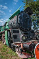 Old disused steam train locomotive