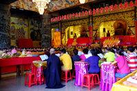 People praying inside Kek Lok Si