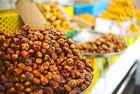 Dates on open air arabian market