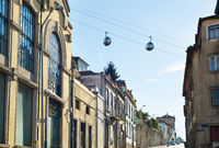Cable car above Porto oldtown