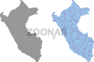 Pixel Peru Map Abstractions