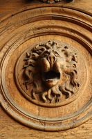 lion head bas-relief