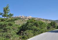 das Dorf Bargème,eines der schönsten Doerfer in Frankreich,Provence,Verdon Naturpark
