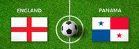 Football match England vs. Panama