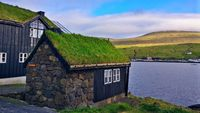 typical faroese houses