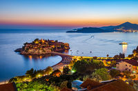 Sveti Stefan from above