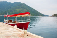 Tourist boat in the Bay of Kotor