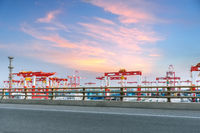 container terminal with highway