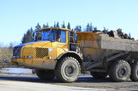 Volvo Articulated Hauler at Construction Site