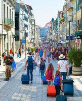 People Santa Catarina street Porto
