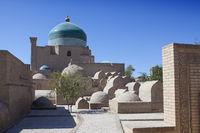 ancient burials in the old city. Khiva. Uzbekistan
