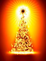 bruning christmas tree