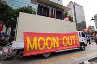Protesters against South Korean President Moon Jae-in, Seoul, So