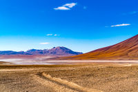Natural landscape at Laguna Verde in the Eduardo Avaroa Andean Fauna National Reserve