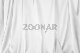 Abstract silk textile background. White light gray texture