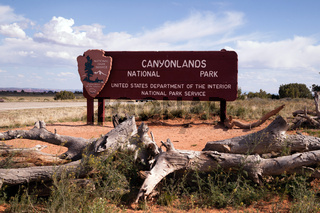 Sign at the Entrance to Canyonlands National Park