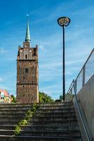 Blick auf das Kröpeliner Tor in Rostock