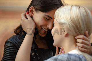 Portrait of an affectionate young lesbian couple