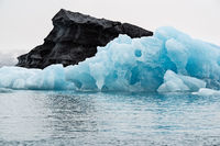 Icebergs in the Jokulsarlon's lake, Iceland