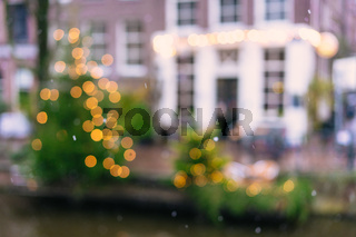 Amsterdam street is out of focus