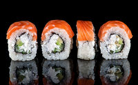 Traditional Japanese sushi roll philadelphia