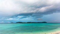 Storm clouds and rain over Koh Lipe, Thailand